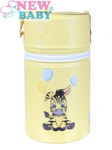 Termoobal Mini na kojeneckou lahev - Zebra barva: žlutá