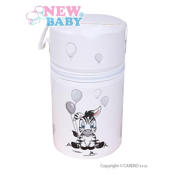 Termoobal Mini na kojeneckou lahev - Zebra barva: bílá