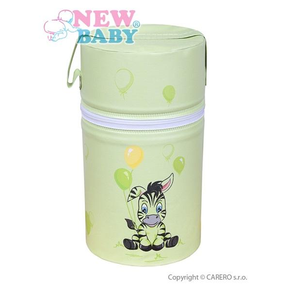 Termoobal Mini na kojeneckou lahev - Zebra barva: zelená