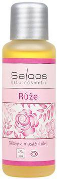 Tělový a masážní olej RŮŽE 50ml Saloos